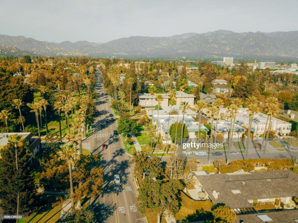 Aerial View of Pasadena, California : Stock Photo