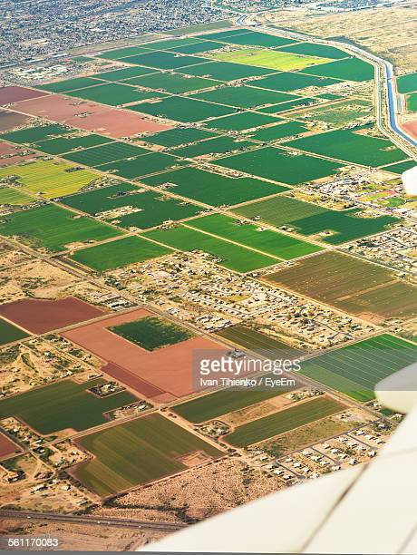 Aerial View Of Patchwork Landscape
