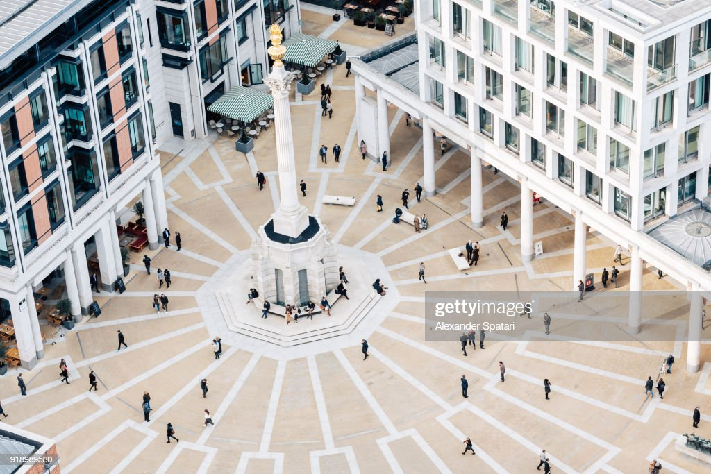 Aerial view of Paternoster square in London, England, UK : Stock-Foto