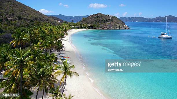 aerial view of peter island, British Virgin Islands