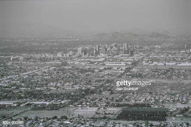 aerial view of phoenix - sirulnikoff stock pictures, royalty-free photos & images