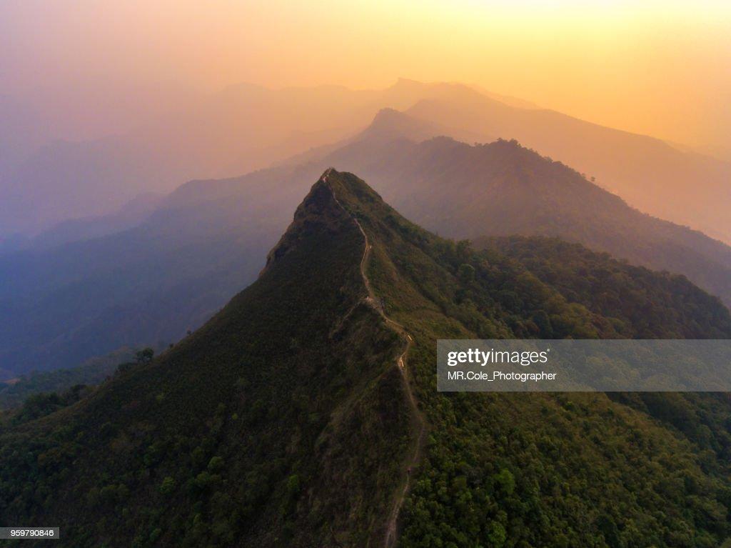 Aerial view of Phucheedao mountain in Northern Thailand. : Stock-Foto