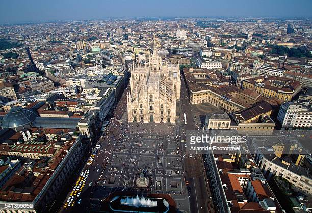 Aerial View of Piazza del Duomo, Milan