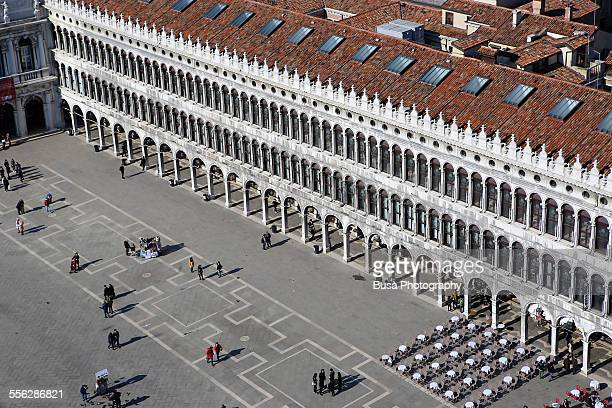 Aerial view of Piazza San Marco in Venice, Italy