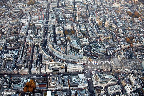 aerial view of  piccadilly circus and regent - ロンドン ソーホー ストックフォトと画像
