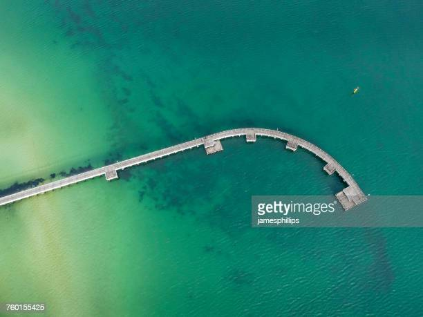Aerial view of pier, Port of Melbourne, Victoria, Australia