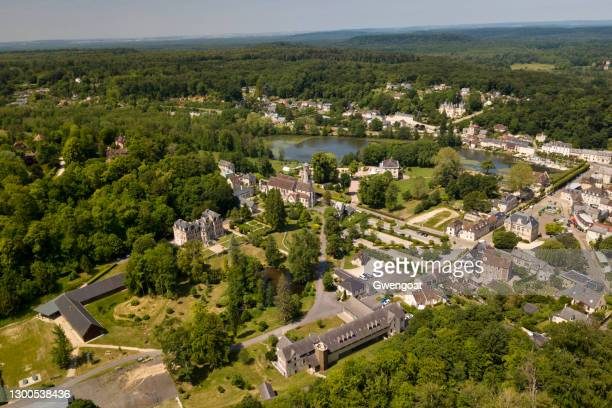 aerial view of pierrefonds - oise stock pictures, royalty-free photos & images