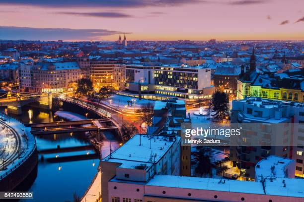 aerial view of pilsen - plzeň stock pictures, royalty-free photos & images