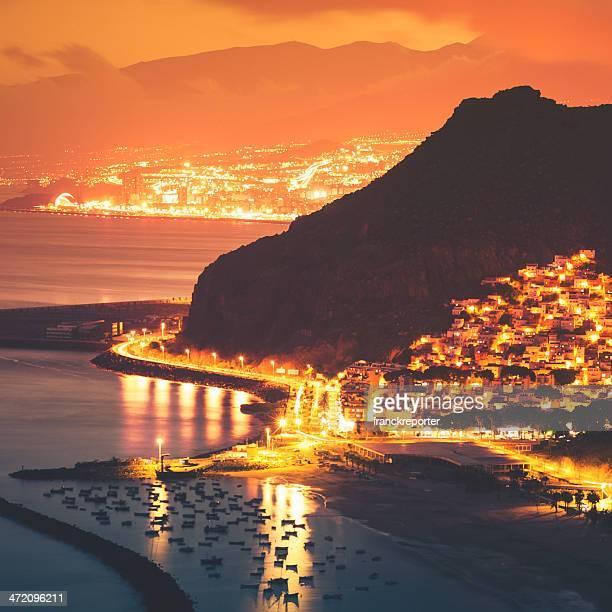 Aerial view of Playa de Las Teresitas - Tenerife