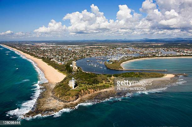 Aerial view of Point Cartwright and Mooloolaba, Sunshine Coast, Queensland, Australia