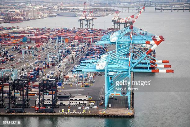 Aerial view of Port Newark.
