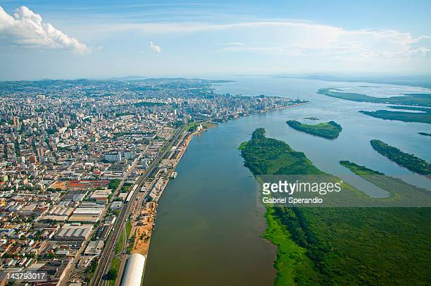 aerial view of porto alegre - porto alegre stock pictures, royalty-free photos & images