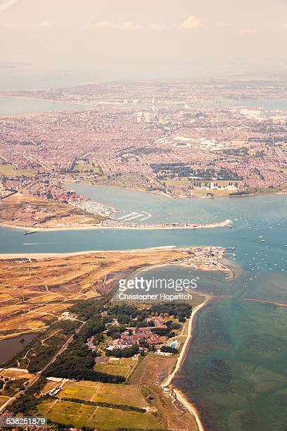 aerial view of portsmouth - portsmouth england stock photos and pictures