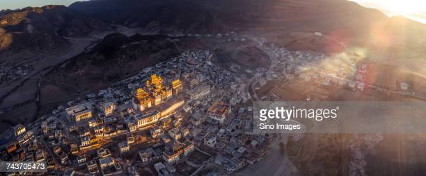 Aerial view of Potala Palace, Lasa, Tibet, China