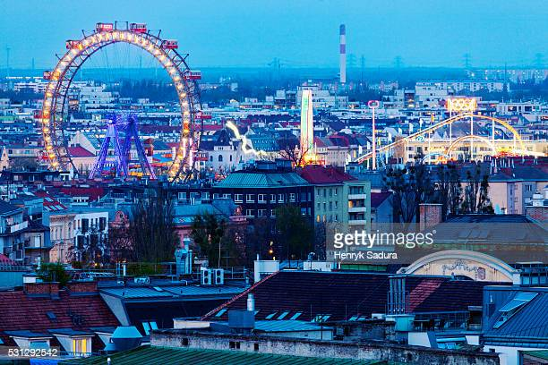 Aerial view of Prater in Vienna