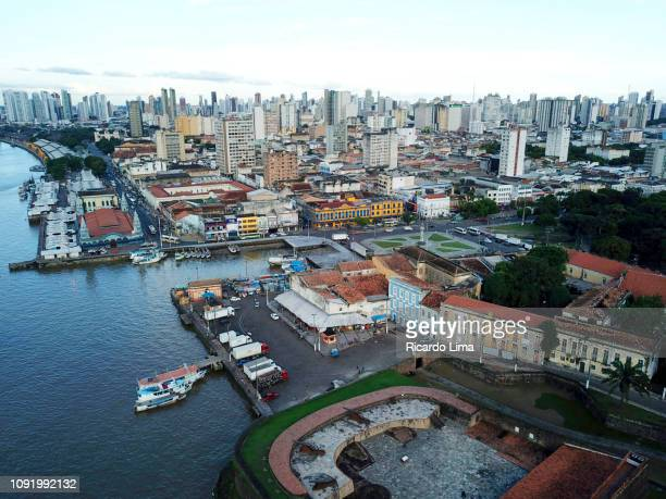 Aerial View Of Presepio Fort In The Historic District Of Belem, Brazil