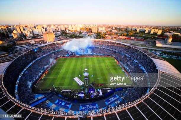 Aerial view of Presidente Peron Stadium prior a match between Racing Club and Defensa y Justicia as part of Superliga 2018/19 at Presidente Peron...