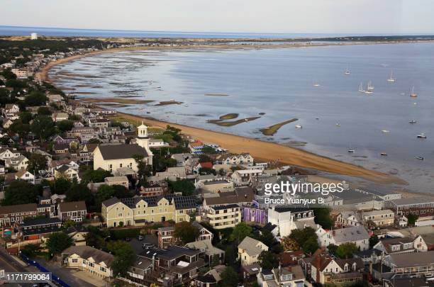aerial view of provincetown - massachusetts stock pictures, royalty-free photos & images