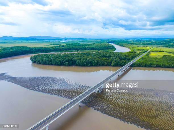 Aerial view of Puente La Amistad (Frindship Bridge) - Costa Rica