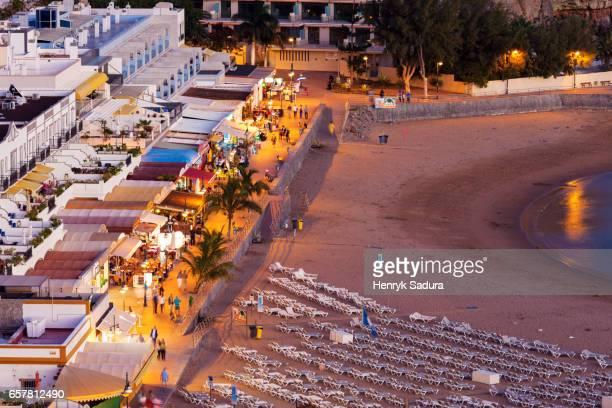 Aerial view of Puerto De Mogan, Spain