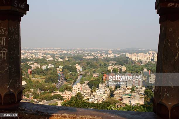 Aerial view of Pune city in India