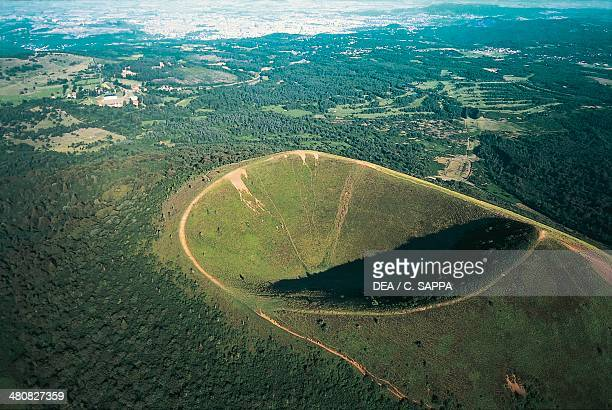 Aerial view of Puy Pariou volcano Auvergne France