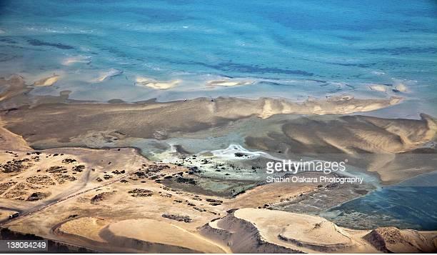 Aerial view of qatars desert