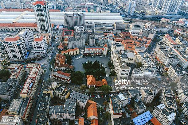 Aerial View of Qingdao Residential Area