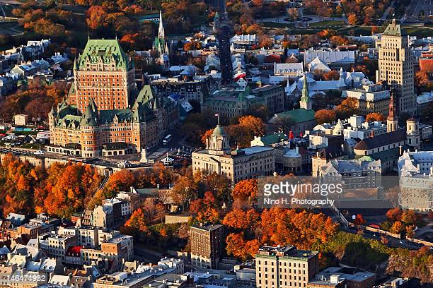 Aerial view of Quebec city - Indian summer