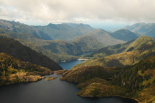Aerial view of Queen Charlotte Islands BC