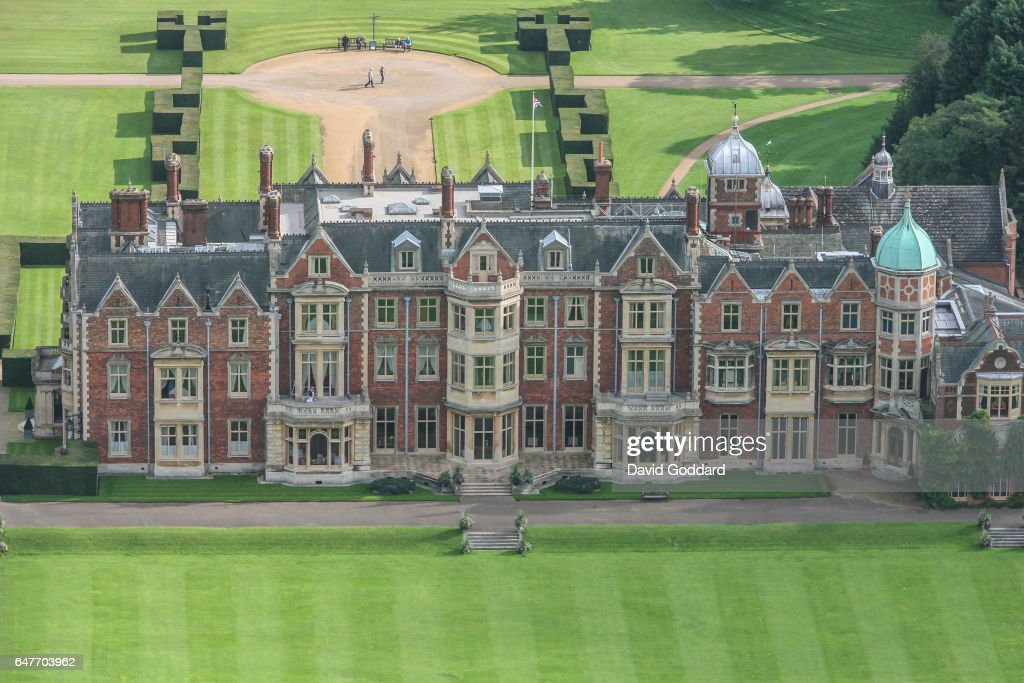Aerial View Of Sandringham Hall : News Photo