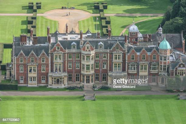 Aerial view of Queen Elizabeth II's Country residence Sandringham Hall on October 3 2006 in Sandringham England This Jacobean Country house is...