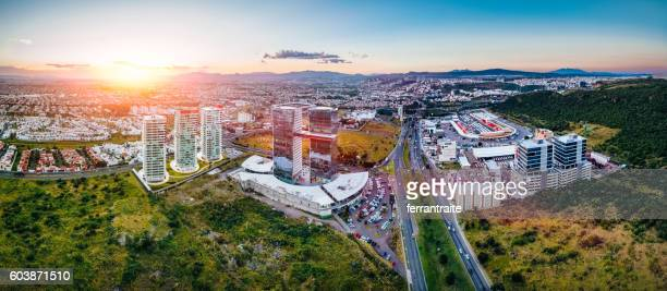 aerial view of queretaro skyline mexico - queretaro state stock pictures, royalty-free photos & images