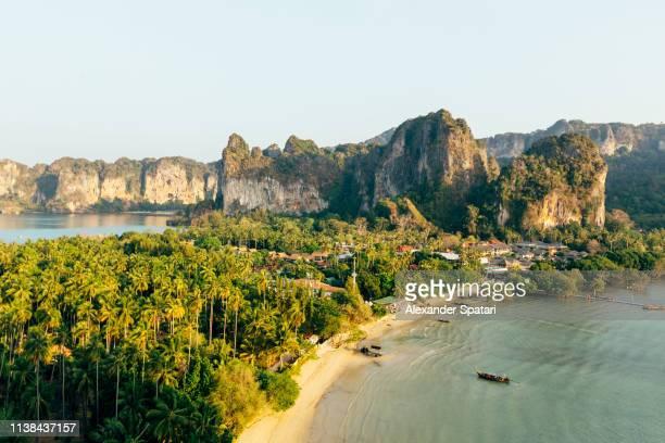 Aerial view of Railay Beach, Krabi, Thailand
