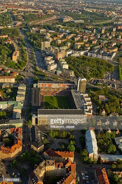 Aerial view of Rasunda Stadium