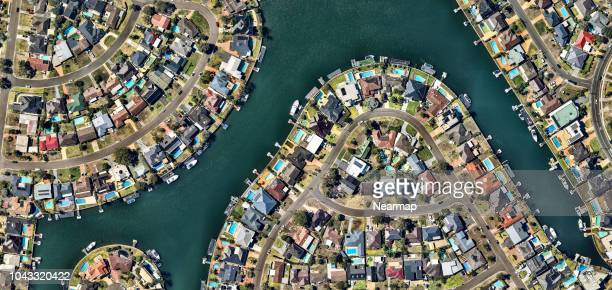 aerial view of residental area. new south wales. australia - south australia stock pictures, royalty-free photos & images