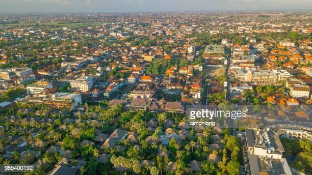 Aerial view of residential area in Bali ,Denpasar