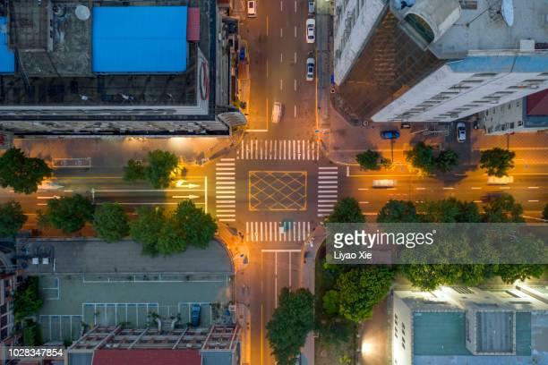 aerial view of residential building - blickwinkel aufnahme stock-fotos und bilder
