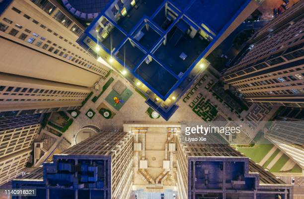 aerial view of residential building - urban sprawl stock pictures, royalty-free photos & images