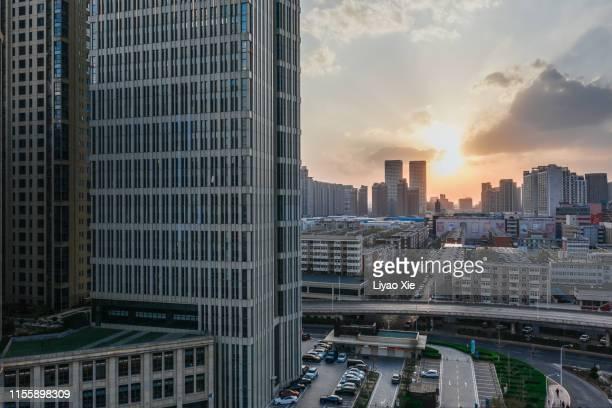 aerial view of residential building - liyao xie fotografías e imágenes de stock