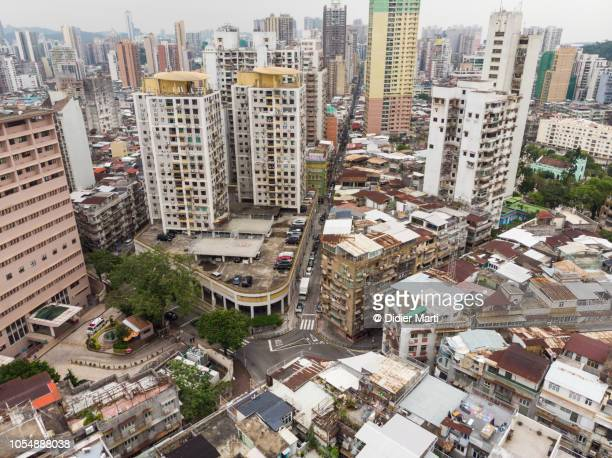 Aerial view of residential district in Macau