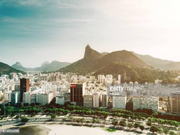 vista aérea do rio de janeiro, brasil - rio de janeiro - fotografias e filmes do acervo