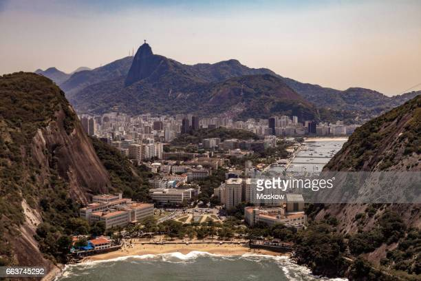 aerial view of rio de janeiro - botafogo brazil stock pictures, royalty-free photos & images