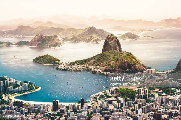 aerial view of rio de janeiro - south america stock pictures, royalty-free photos & images