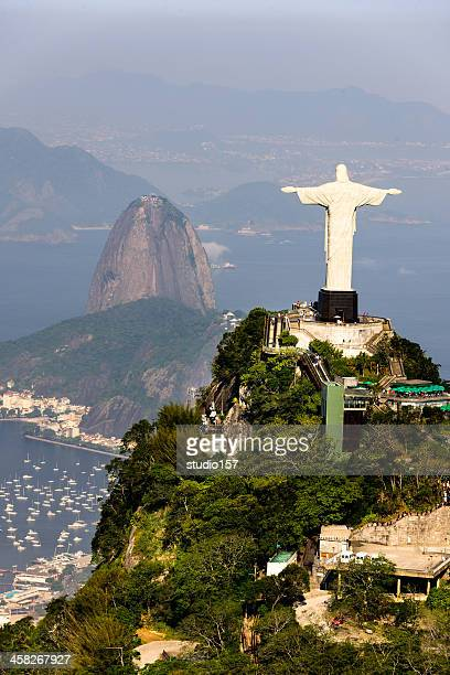 aerial view of rio de janerio from helicopter - copacabana beach stock pictures, royalty-free photos & images