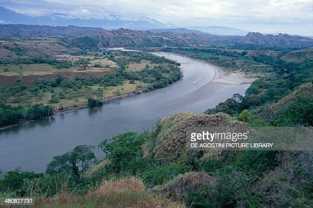 Aerial view of Rio Magdalena Colombia