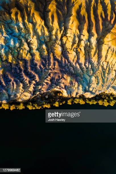 aerial view of river and landforms - nature stock pictures, royalty-free photos & images