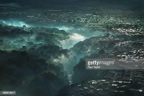 Aerial View of River Canyon, San Jose, Costa Rica