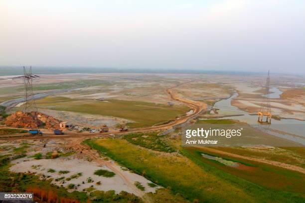 Aerial View Of River Chenab