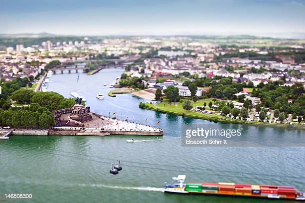 aerial view of river - rhineland palatinate stock pictures, royalty-free photos & images